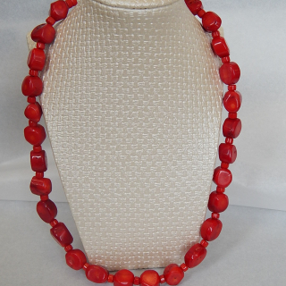 Lovely Coral Bead Necklace