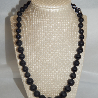 Onyx Graduated Bead Necklace