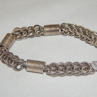 Sterling Silver unusual link Bracelet
