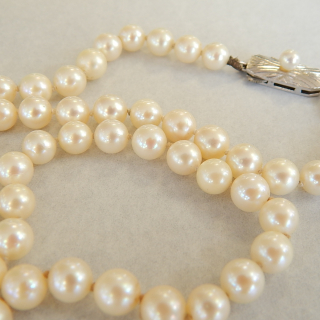 String of MIKIMOTO Cultured pearls