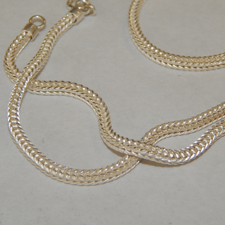 61 cm Sterling Silver box snake CHAIN