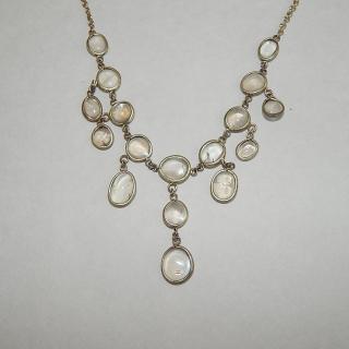Silver Plated Moonstone set Vintage Necklace