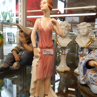 Goebel Lady Figurine . AT THE TEA DANCE