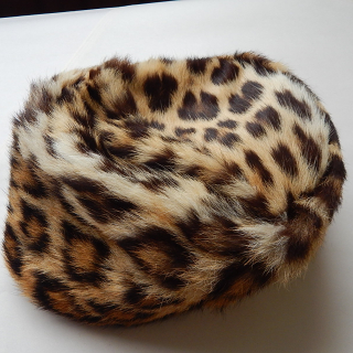 Vintage Cheetah fur hat
