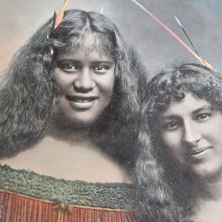 NZ Photo DENTON, Maori Madens F.T.Series