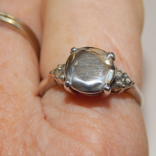 MVR Sterling Silver Solitaire Ring