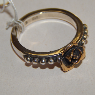 Silver and Bronze MVB Rose Ring