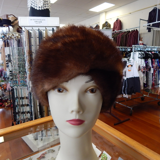 Vintage Ladies Mink Fur Hat