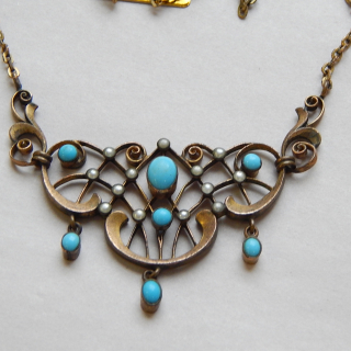 Antique Gold Plated Costume necklace