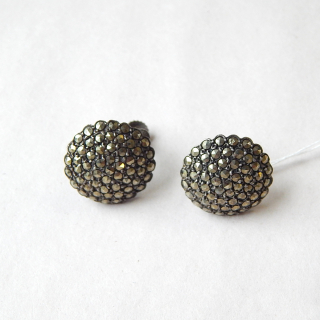 Marcasite and Sterling Silver Screw on earrings