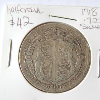 1918 English Half Crown