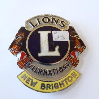 LIONS International New Brighton Car Badge