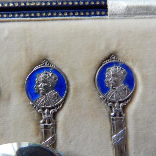 Set of Sterling Silver 1935, Silver Jubilee Spoons