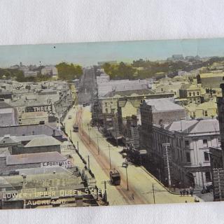 NZ Postcard. Lower & Upper Queen Street, Auckland