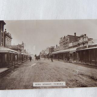 King Street, Temuka NZ Postcard