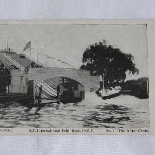 NZ Exhibition 1906-7, The Water Chute postcard