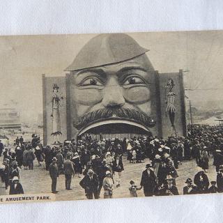 N.Z Exhibition Postcard. In The AMUSEMENT Park