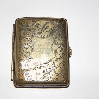 From the Boys at the front, Cigarette case. 1916
