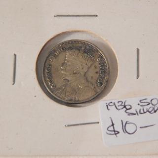 1936 NZ Sixpence