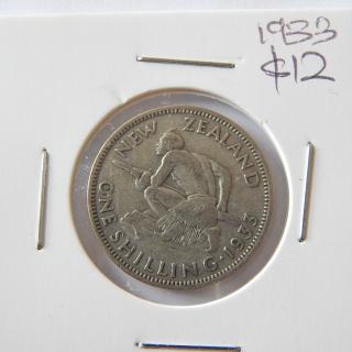1933 NZ Shilling .50 Silver