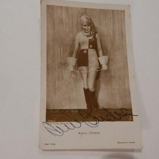 Anny Ondra signed photo postcard.
