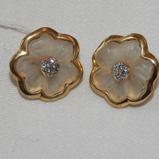 Frosted Glass Clip on earrings