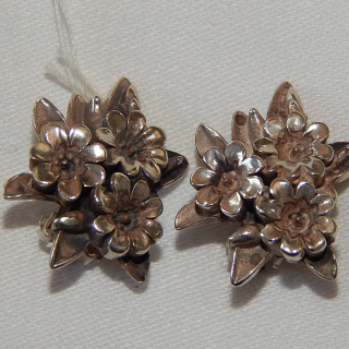Marc Vigor Brown Sterling Silver CLIP on Earrings