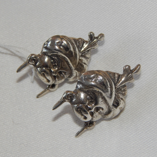 Sterling Silver Screw on earrings, Man with Turban