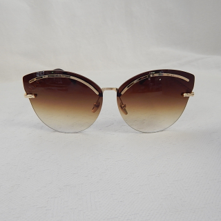 Gold and Brown Vintage Styled Sunglasses