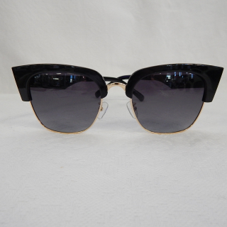 Black Sunglasses with fine gold trim