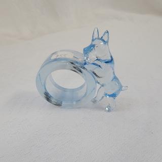 Vintage Glass Scottie Dog Napkin Ring