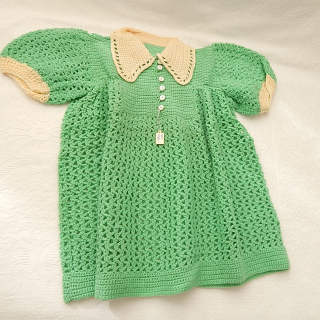 1940's Childs Woolen Dress