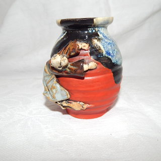 Sumida Gawa Yaki Antique little vase.