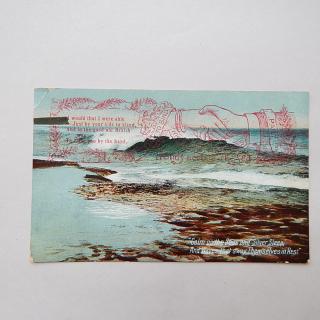 Hands across the sea Postcard 1909