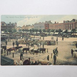 The Market Place Salisbury Looking N.W Postcard