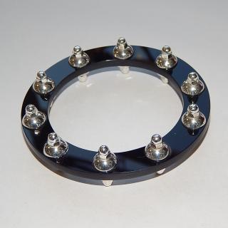 BLACK resin and SILVER Bracelet M.V.B