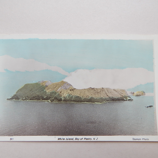 White Island NZ Postcard. Tasman Photo