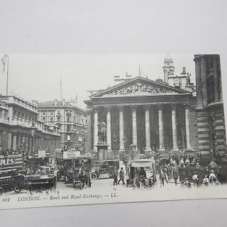 London Bank & Royal Exchange Postcard