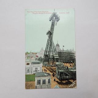 The FLIP FLAP from stadium Franco-British Exhibition, London 1908 Postcard