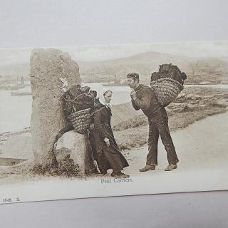 Peat Carriers, Antique postcard