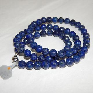 Lapis round bead NECKLACE