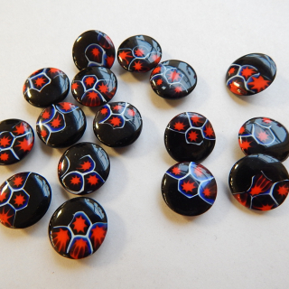 x16 Millefiori Vintage Glass Buttons