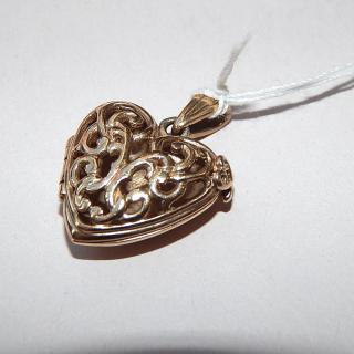 9ct Gold Heavy Heart locket