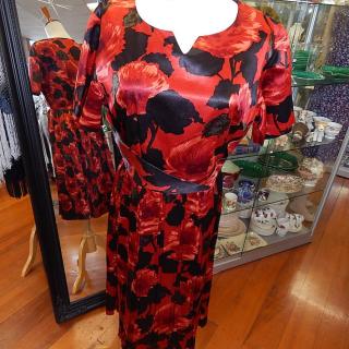 Vintage c1950s Red Dress