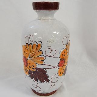 Rustic Hand Painted Italian Vase