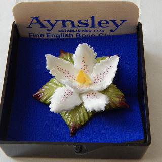 Aynsley Flower boxed Brooch