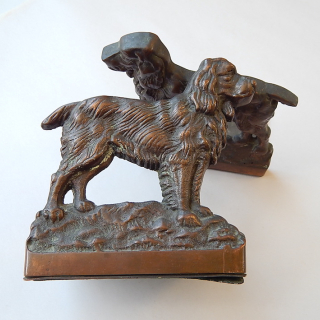 Book Ends Bronze Spaniels
