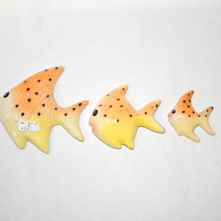 Set of 3 small WALL Fish