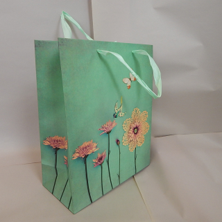 Lace and bird Gift bags x12