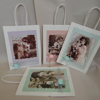 Victorian Lady & Girl gift bags